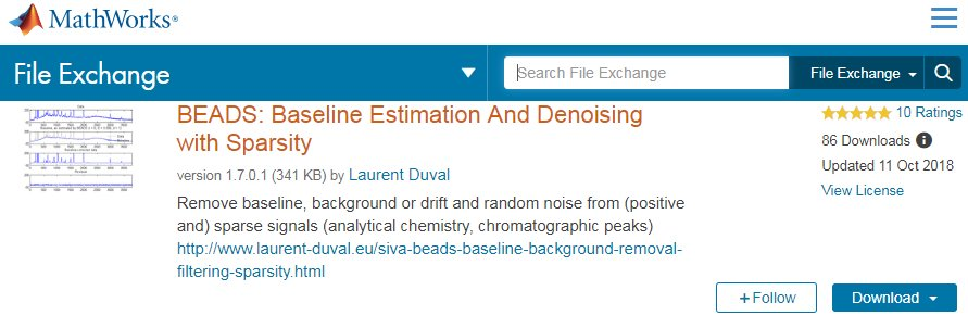 Laurent Duval - BEADS: Baseline background Estimation And
